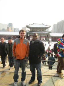 Sightseeing in Seoul with Alex Fay, an SU alum who is currently teaching in Taiwan.