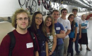 The physics REU students on a field trip to Brookhaven National Laboratory on Long Island. I am second from the left.