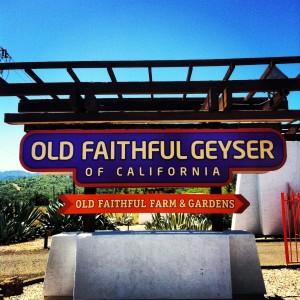 Sign for Old Faithful Geyser