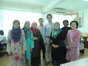 Me and my fellow English teachers in my office.