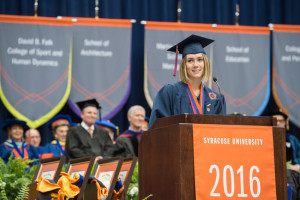 Commencement 2016 Ceremony Kaitlyn Elizabeth Hobson Student Speaker