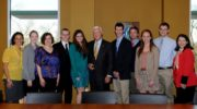 Ernest F. Hollings with 2011 and 2012 Scholarship Recipients