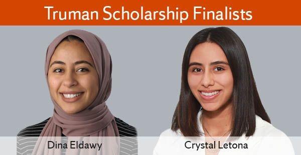 Headshots of Dina Eldawy and Crystal Letona