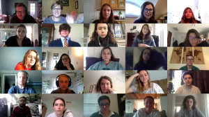 screenshot of the zoom meeting, featuring many attendee's faces